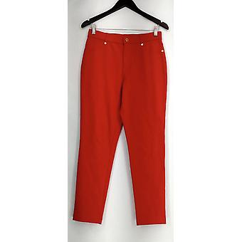 Isaac Mizrahi Live! Pants Ponte Knit Ankle Pants True Red A260963