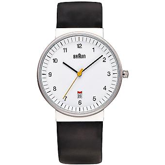 Braun classic gent Japanese Quartz Analog Man Watch with BN0032WHBKG Synthetic Leather Bracelet