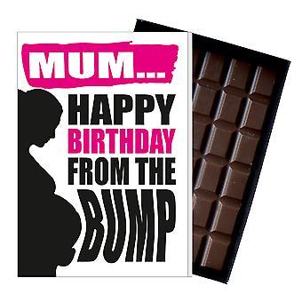Divertente regalo di compleanno dal colpo cioccolato biglietto d'auguri presente per le donne incinte MIYF150