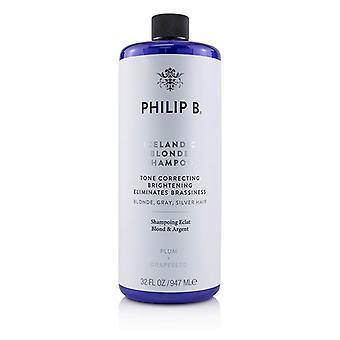 Philip B Icelandic Blonde Shampoo (tono corrector brillo elimina la brasatez - rubio gris plata H - 947ml / 32oz