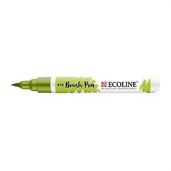 Talens Ecoline Liquid Watercolour Brush Pen - 676 Grass Green