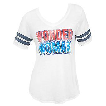 Ihme nainen Burnout yliopistojoukkue naisten White Tii paita