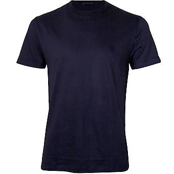 Franse connectie Crew-Neck Jersey T-shirt, Utility blauw