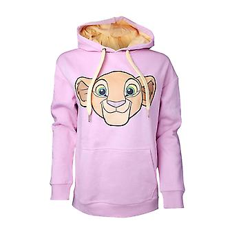 Official Womens The Lion King Hoodie Nala Logo new Disney Pink Pullover
