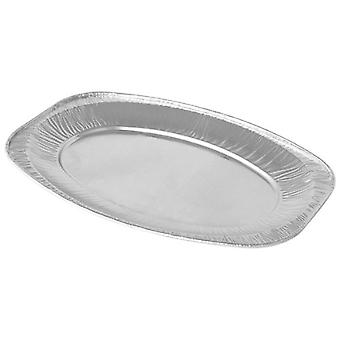 Foil Disposable Platters Silver 14-Inch/ 35.6 Cm Pack of 20 - Catering Party Serving Picnic