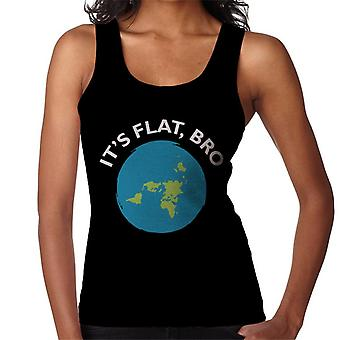 Its Flat Bro Flat Earth Women's Vest