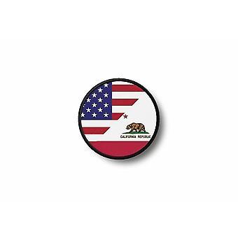Patch ecusson termocollant bord brode drapeau imprime arabie saoudite saoudien