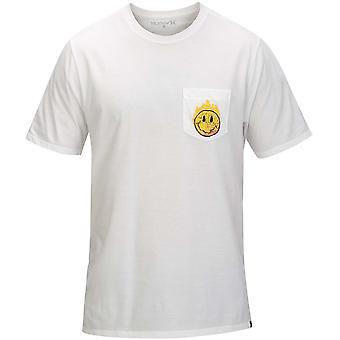 Hurley hot Smiles Pocket kortärmad T-shirt i vitt