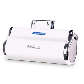 iWalk Rechargeable Docking Backup Battery for iPhone 4/4s 30-pin (2500mAh) - White
