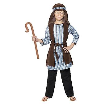 Boys Childrens Shepherd fødsel Fancy Dress drakt