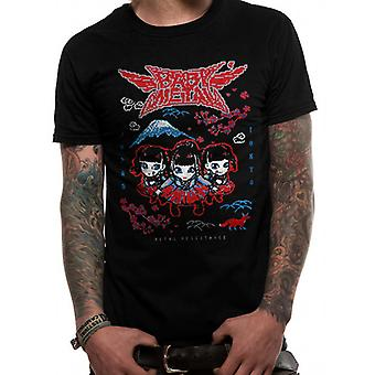 Babymetal-Schwarz Pixel Tokyo T-Shirt