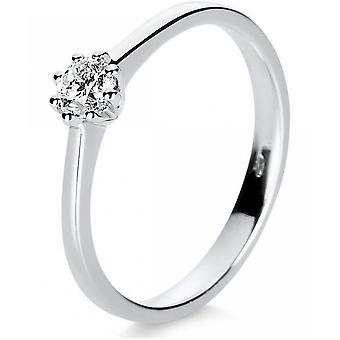 Diamantring Ring - 14K 585 Weissgold - 0.24 ct.