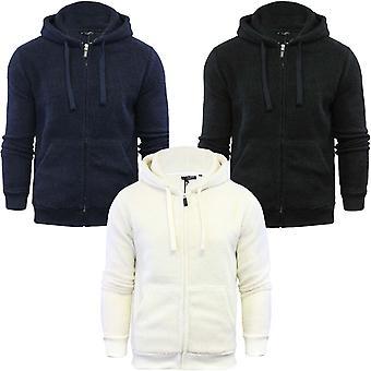 Dappere ziel mens Shaun Sherpa fleece zip van lange mouw Sweatshirt jas