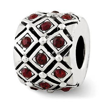925 plata esterlina pulido acabado Reflexiones junio cristal perla encanto colgante collar joyas regalos para las mujeres