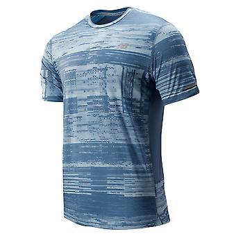 New Balance Mens Printed NB Ice 2.0 T-shirt à manches courtes