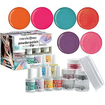 Cuccio Pro Powder Polish Nail Colour Dip System Dipping Powder - Attention Seeker Collection Starter Kit (5017)
