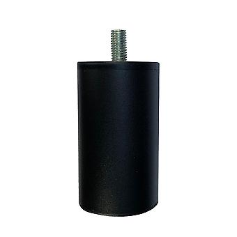 Round Black Furniture Leg 9 cm (M10)