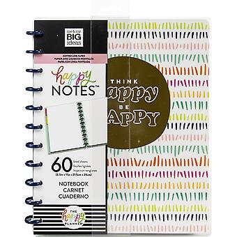 Happy Planner Big Notebook W/60 Sheets-Think Happy Be Happy Educational