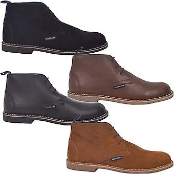 Lambretta Mens Carnaby III Classic Lace Up Casual Formal Desert Boots Shoes