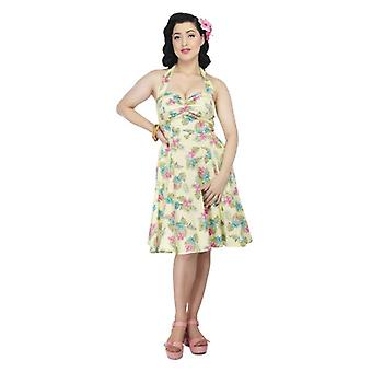 Collectif Vintage Women's 1950's Joanna Honolulu Hibiscus Dress