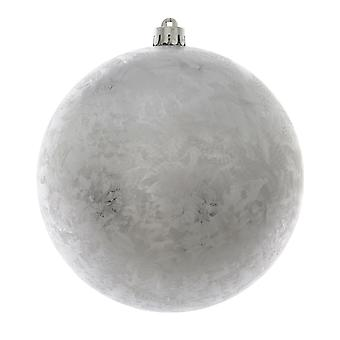 14cm Frosted Silver Christmas Bauble Ornament