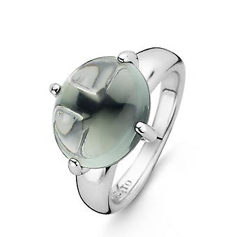 Ti Sento 12117GG - ring sølv ring sten grå grøn 4 kløer