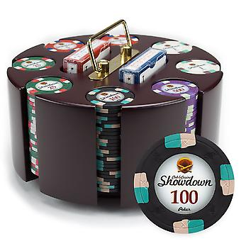 200ct Claysmith Gaming Showdown Chip Set in Carousel