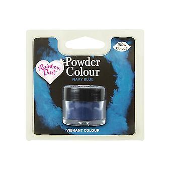 Poeira do arco-íris comestível Matt Powder Dust Colour 4g Navy Blue