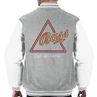 Bass Served Here Neon Sign Men's Varsity Jacket