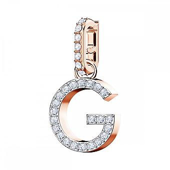 Swarovski Remix Rose Gold Tone Plated & White Crystal Letter G Charm 5437614