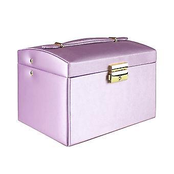 Jewelry box, Artificial Leather - Purple