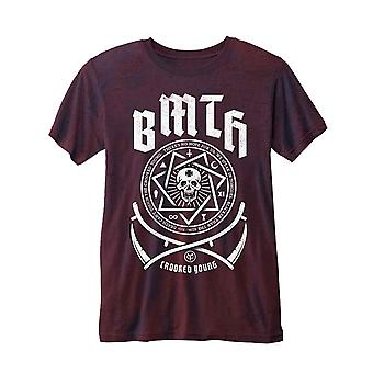 Bring Me The Horizon T Shirt Crooked Young Logo Official Mens New Red Burnout