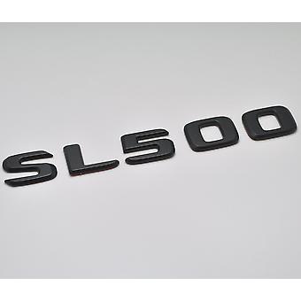 Matt Black SL500 Flat Mercedes Benz Car Model Rear Boot Number Letter Sticker Decal Badge Emblem For SL Class R230 R231 AMG