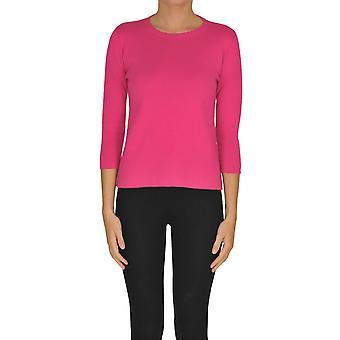 Alyki Ezgl111011 Kvinder's Fuchsia Bomuldsweater