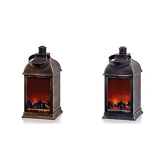 Christmas Shop Fireplace Lantern Decoration