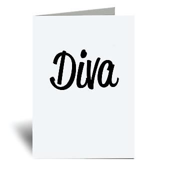 Diva A6 Greeting Card
