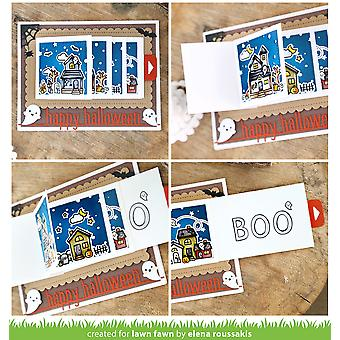 Césped Fawn Happy Halloween Line Border Die