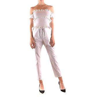 Pinko Ezbc056276 Women's White Cotton Jumpsuit