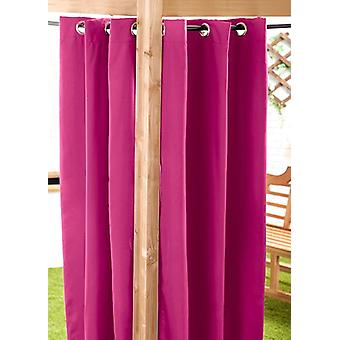 Pink Water Resistant Outdoor Eyelet Curtain 55