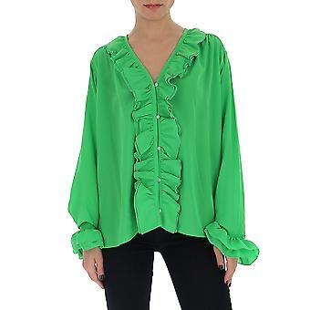 Victoria Beckham 1220wsh001217b Chemise en coton vert