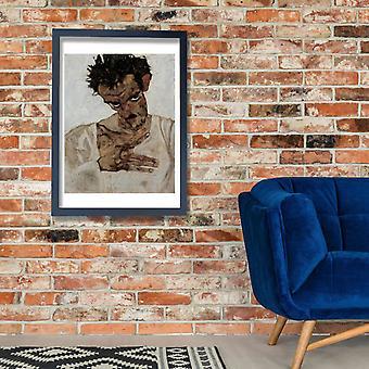 Egon Schiele - Learing Man Poster Print Giclee