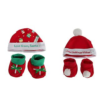 Nursery Time Baby Hat And Booties Set