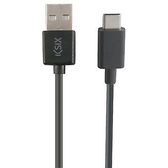 Câble USB-C à USB KSIX 3 m noir