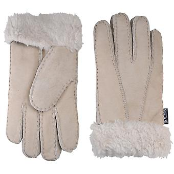 Nordvek Womens Sheepskin Gloves - Fold Back Cuff - Suede # 301-100