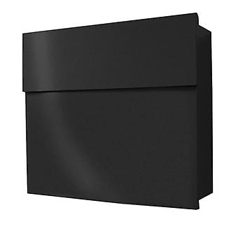 RADIUS design mailbox Letterman 4, hidden Castle, modern wall post box black, gift idea for the topping-out ceremony