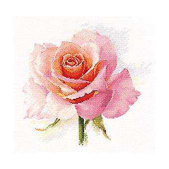 Kit Alisa Cross Stitch - O Sopro da Ternura Rosa