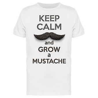 Keep Calm And Grow Your Mustache Tee Men's -Image by Shutterstock