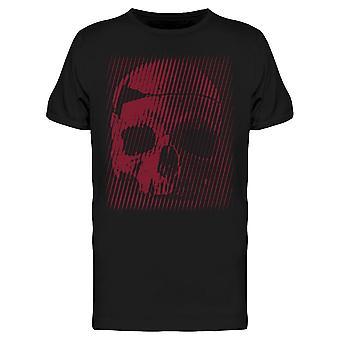 Red Halftone Line Skull Tee Men-apos;s -Image par Shutterstock