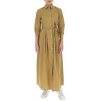 Semi-couture S0sk08v42 Women's Beige Cotton Dress