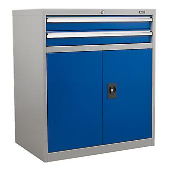 Sealey Api8810 Industrial Cabinet 2 Drawer And 1 Shelf Double Locker